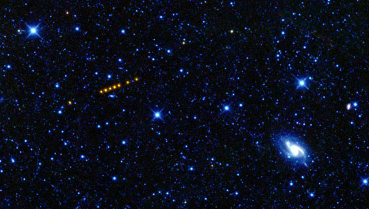 WISE image of an asteroid