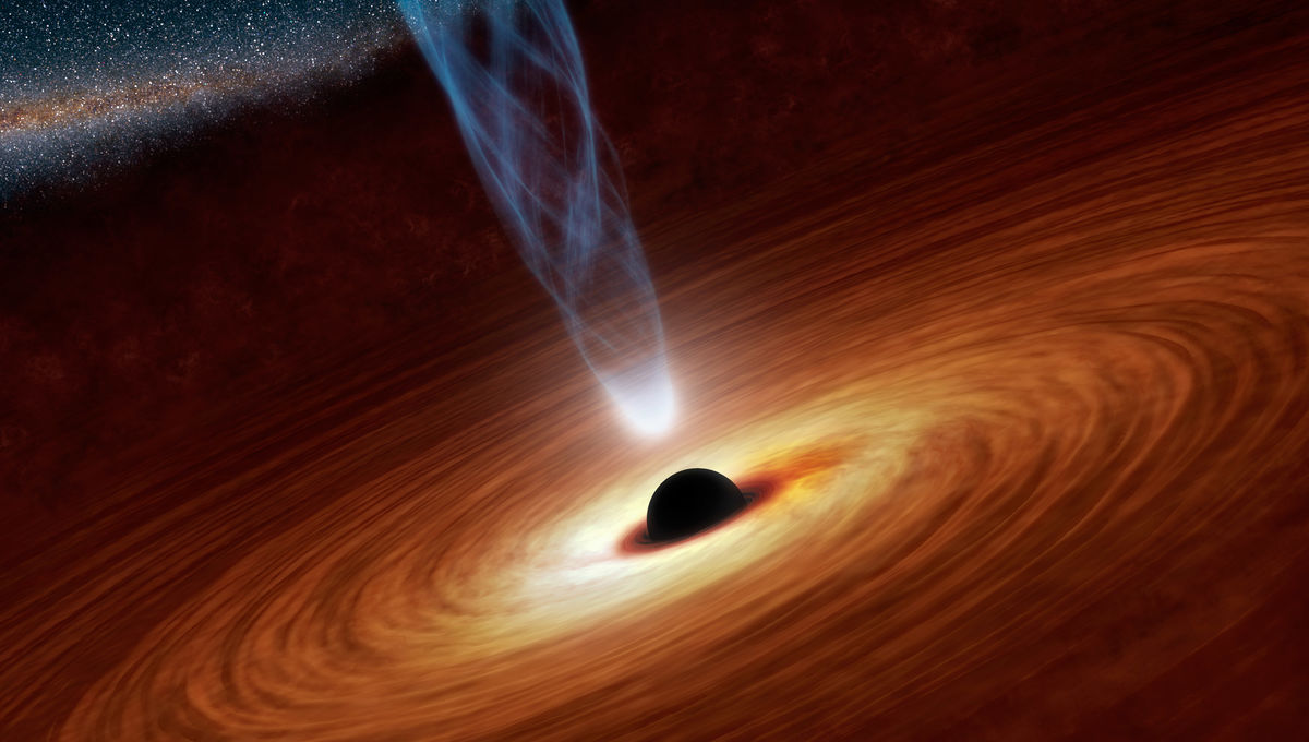 artwork of a black hole accretion disk