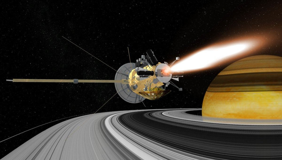 Artwork: Cassini enters Saturn orbit in 2004