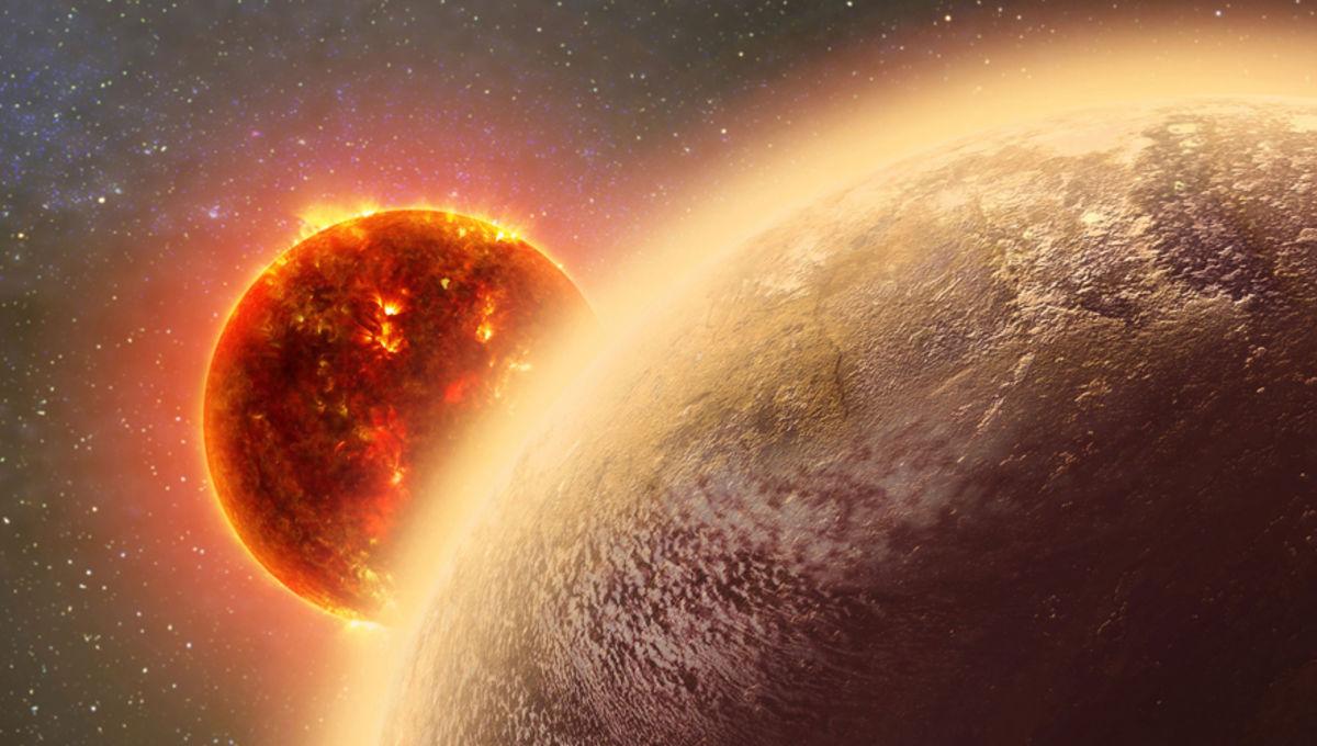 artwork depicting the exoplanet GJ 1132b