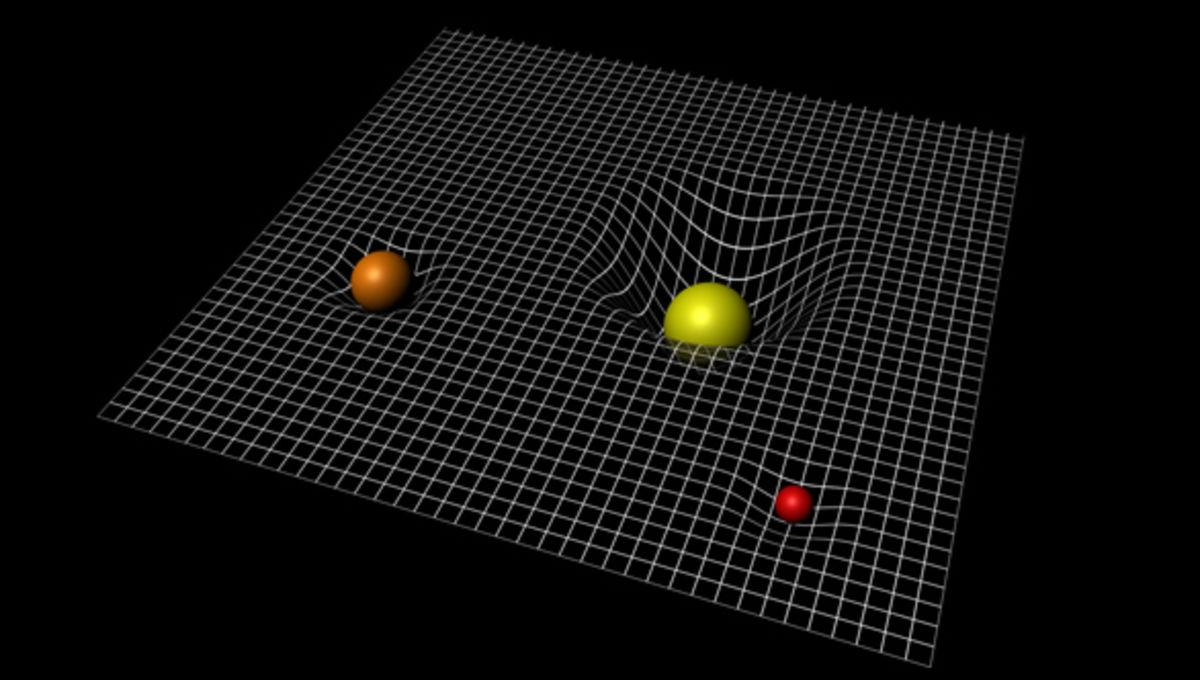 matter warps space