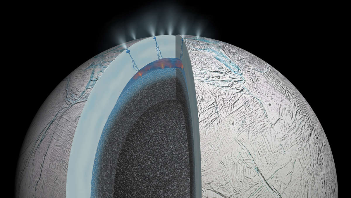 cutaway diagram of Enceladus