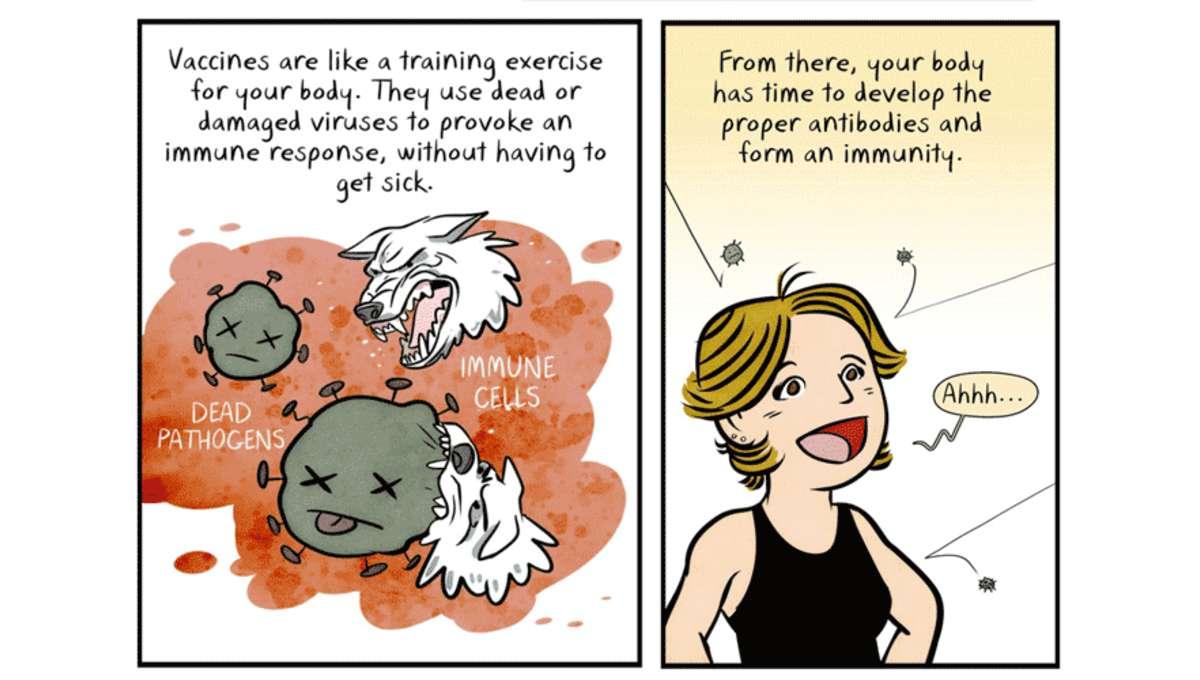 Maki Naro cartoon about vaccines