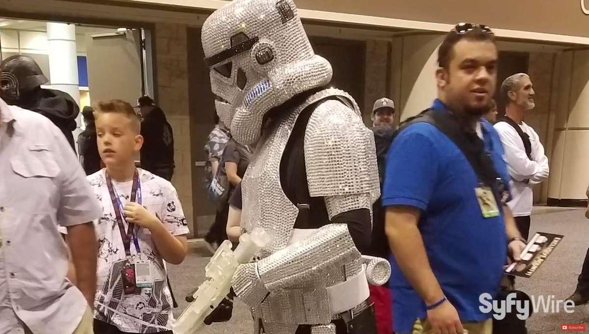 sequined stormtrooper star wars celebration