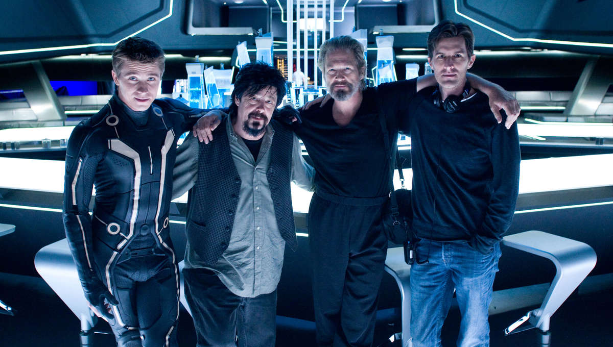 The cast and crew of TRON: Legacy