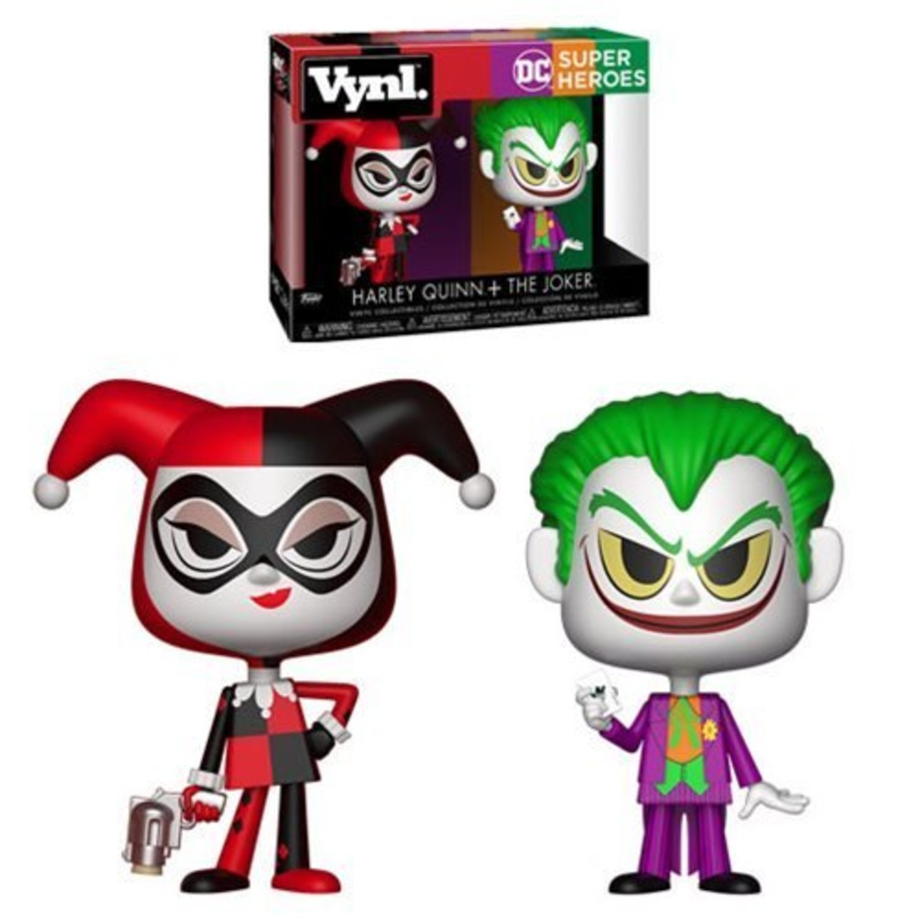 Harley Quinn and Joker Funko Pop