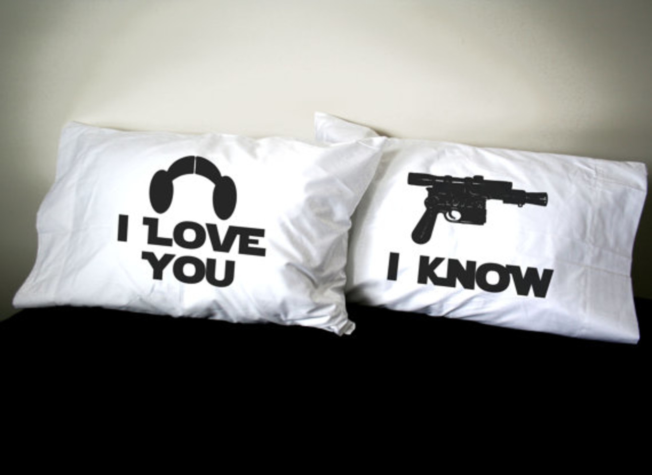 Star Wars His and Her pillowcase Etsy