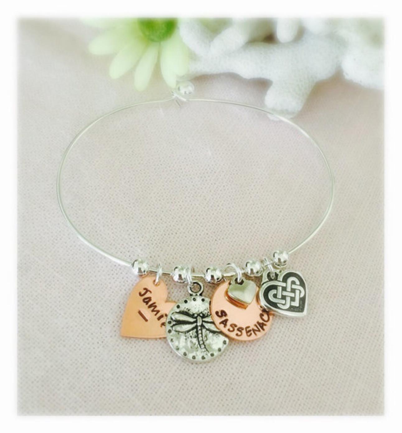 Outlander personalized bracelet Etsy