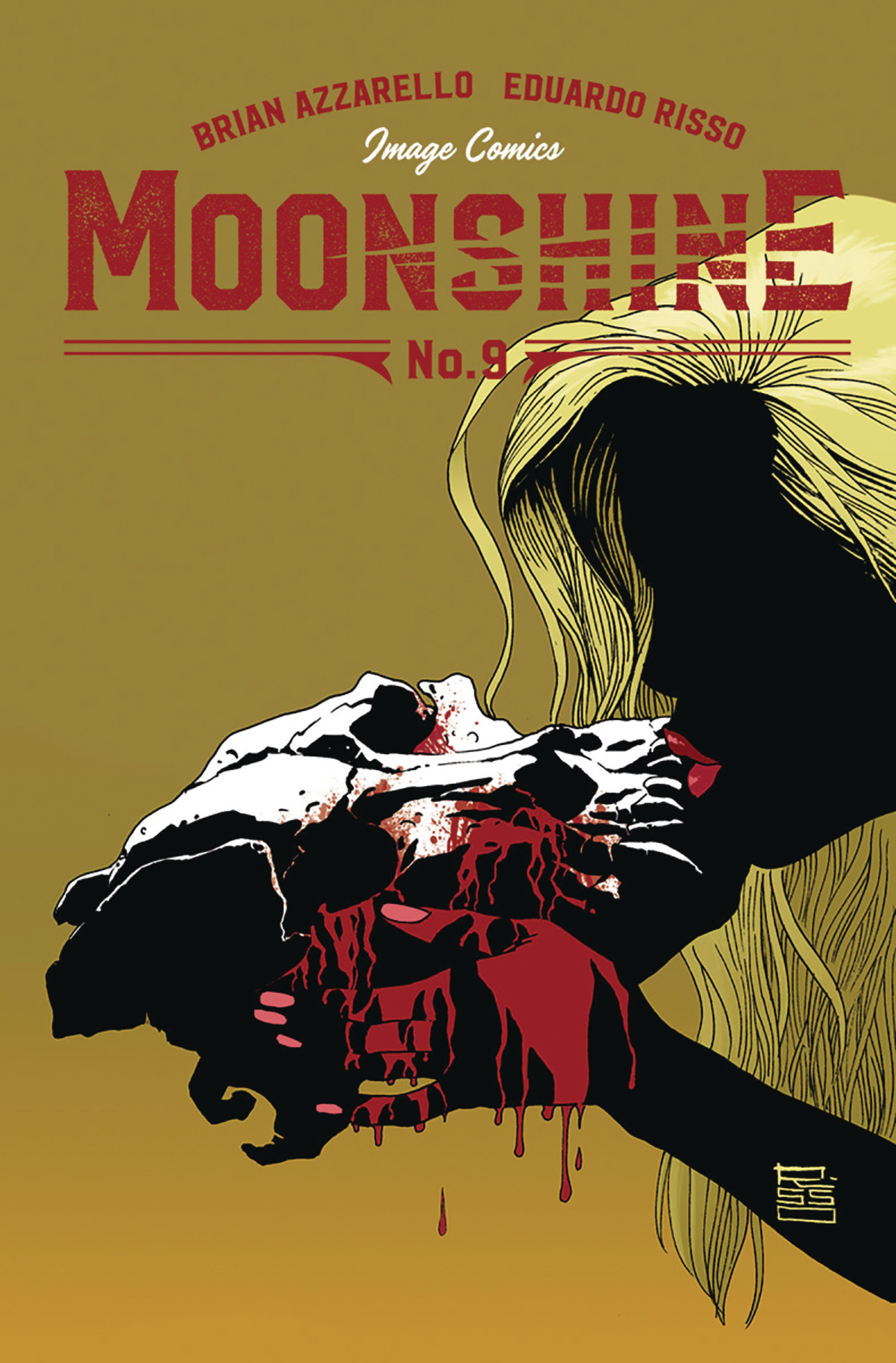 Moonshine #9 Cover by Eduardo Risso