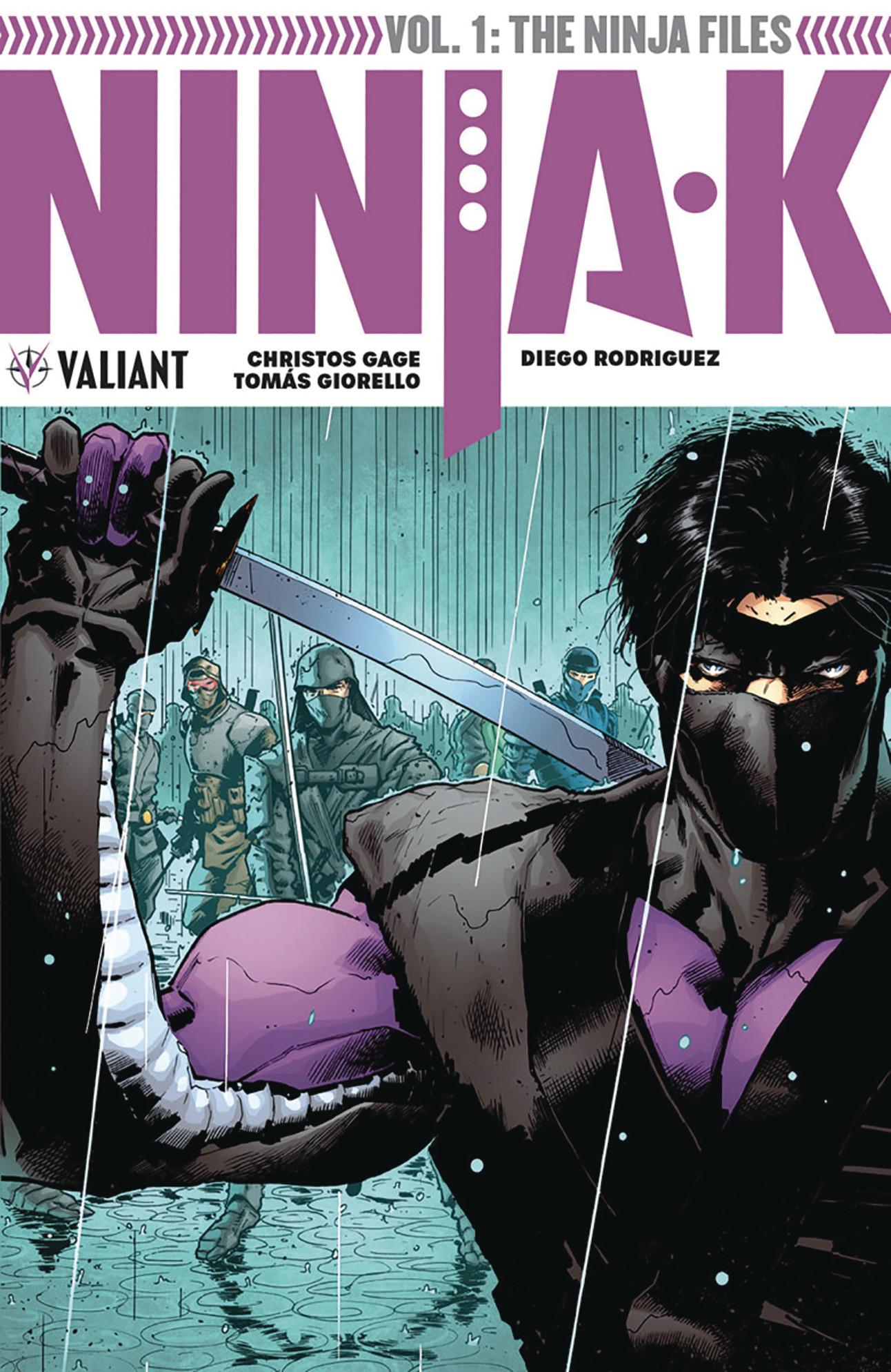 Ninja-K Vol 1 TP Cover by Trevor Hairsine