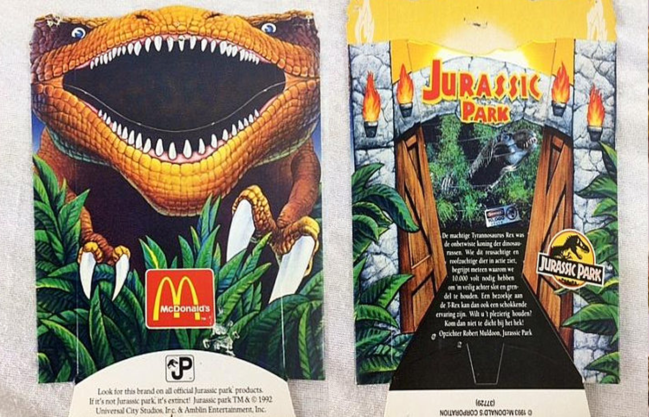 Jurassic Park McDonald's fry box