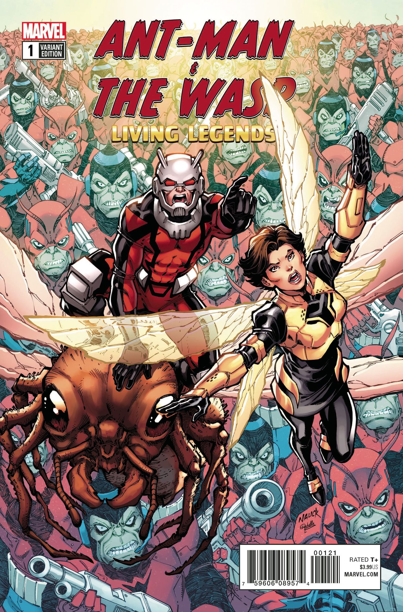 Ant-Man and the Wasp Living Legends 1 cover by Todd Nauck