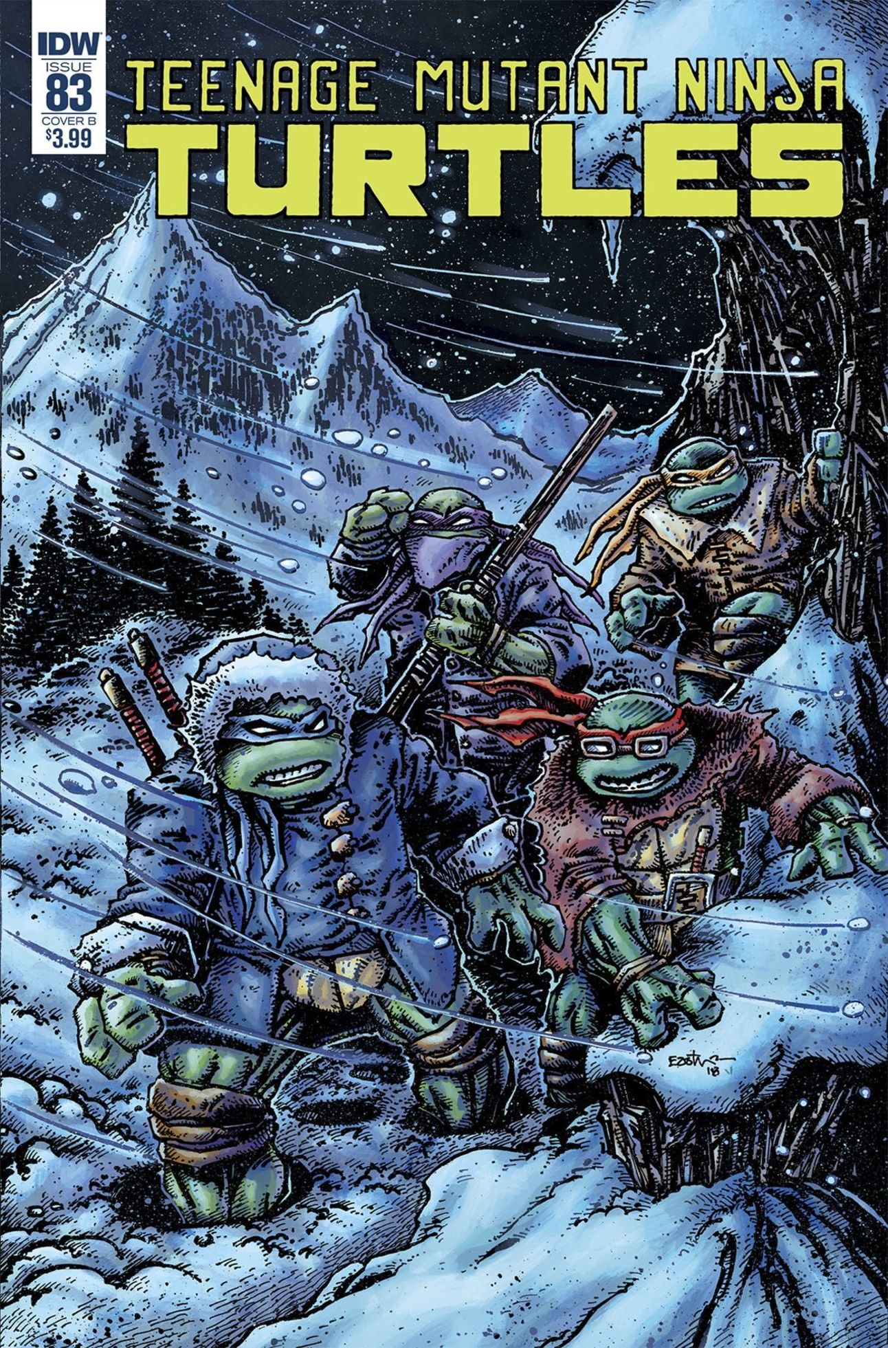 Teenage Mutant Ninja Turtles 83 cover by Kevin Eastman