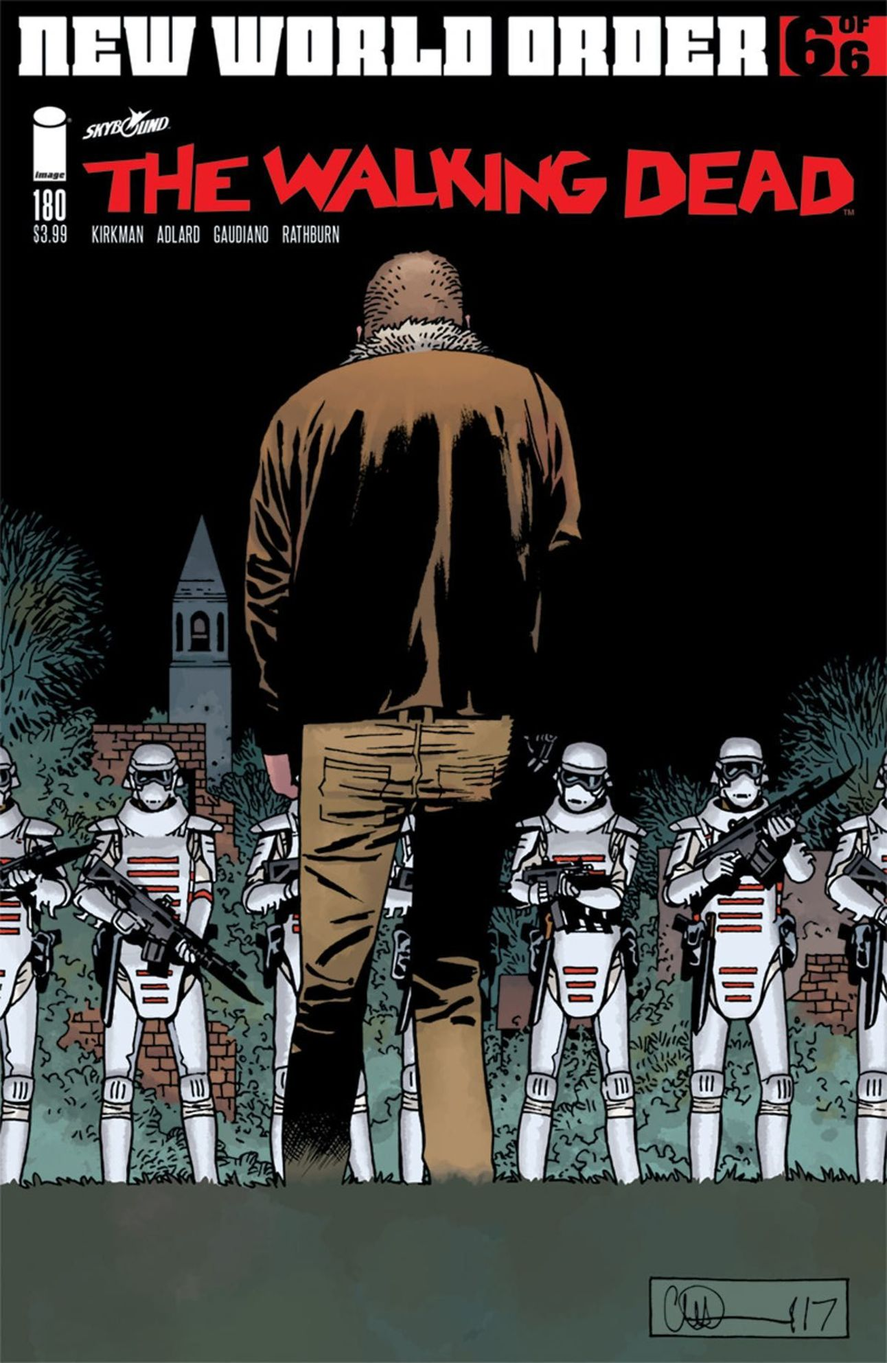 The Walking Dead 180 cover by Charlie Adlard