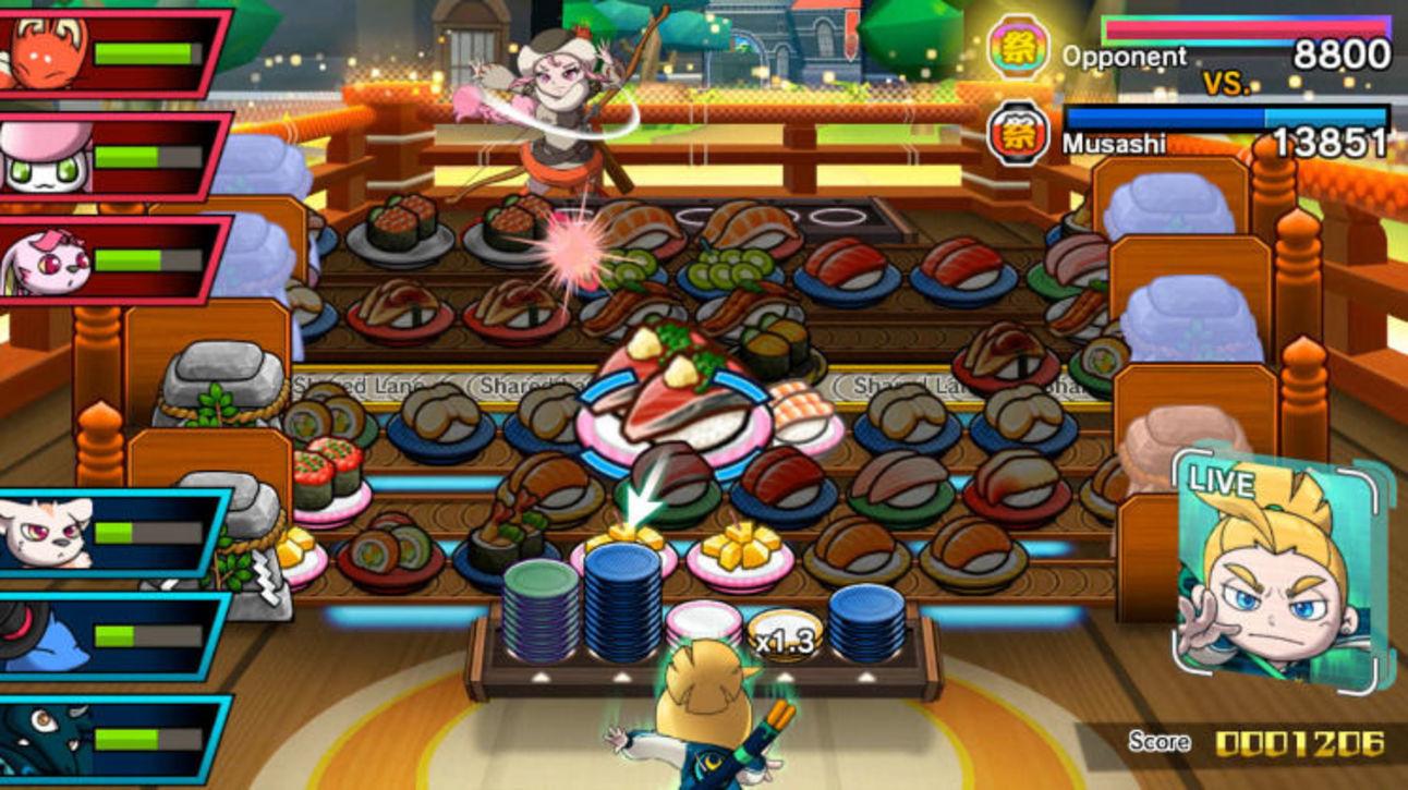 Sushi Striker - Gameplay