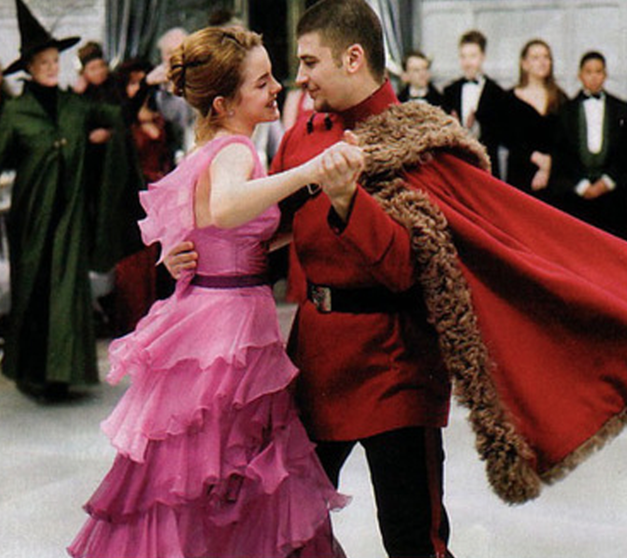 Hermione at the Yule Ball in Harry Potter