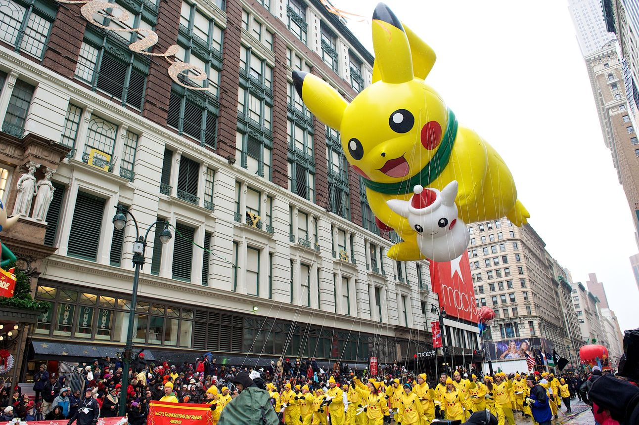 Pikachu in the Macy's Thanksgiving Day Parade