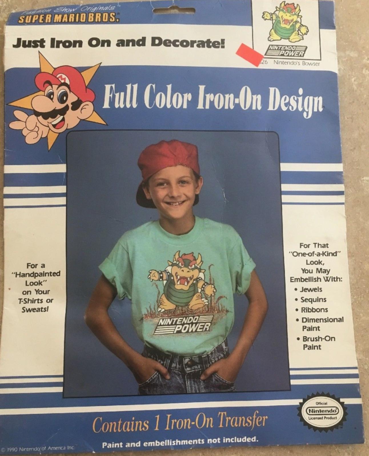Mario Bowser t-shirt transfer