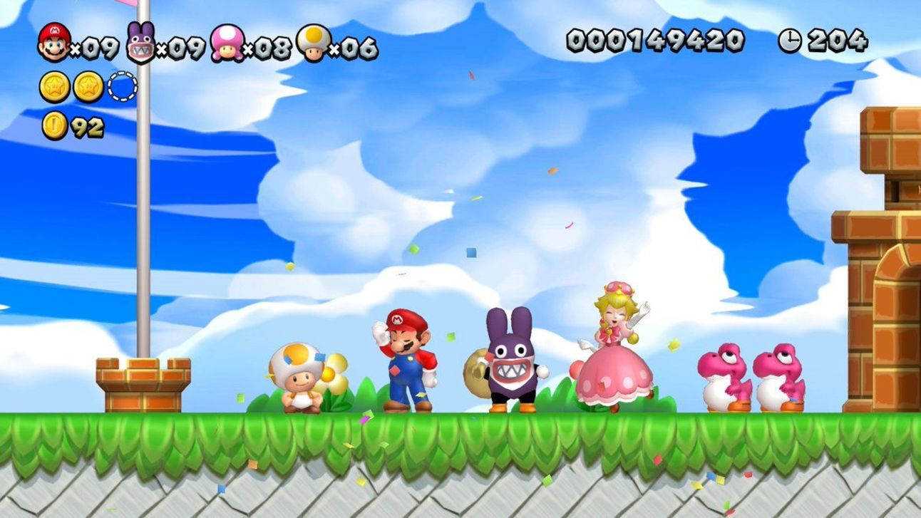 New Super Mario Bros. U Deluxe - Stage Clear