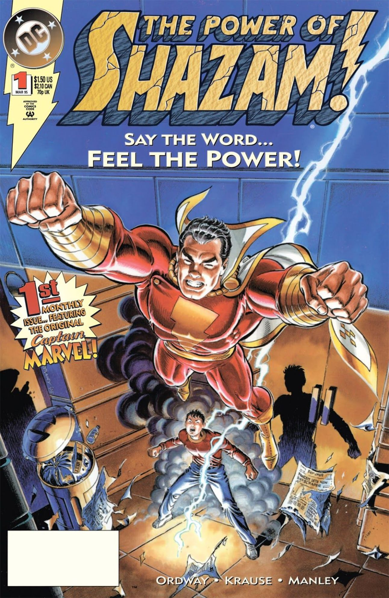 The Power of Shazam (Writer: Jerry Ordway, Art: Peter Krause, Mike Manley)