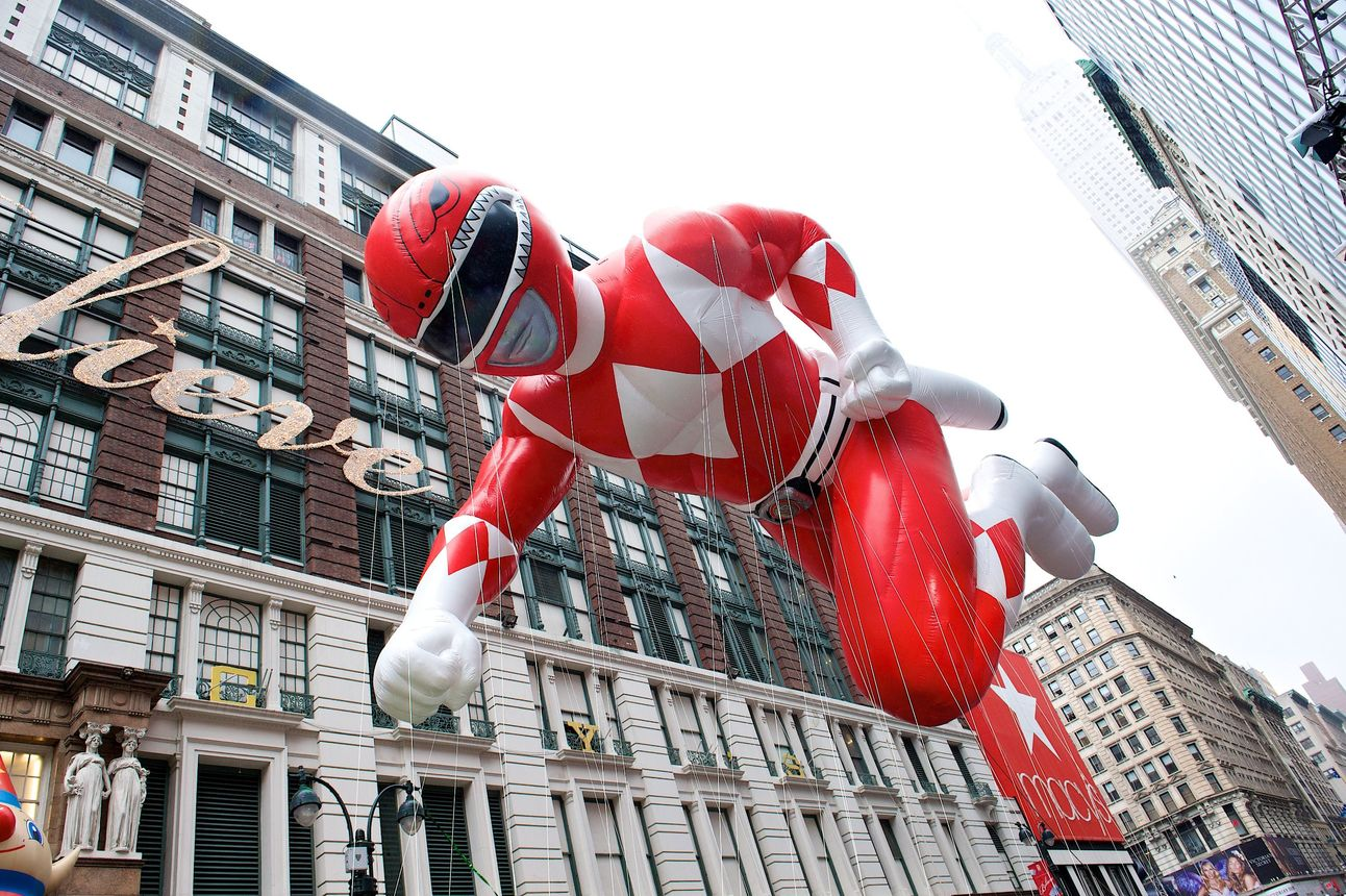 Red Mighty Morphin Power Ranger in the Macy's Thanksgiving Day Parade - photo Kent Miller Studios- Macy's, Inc.