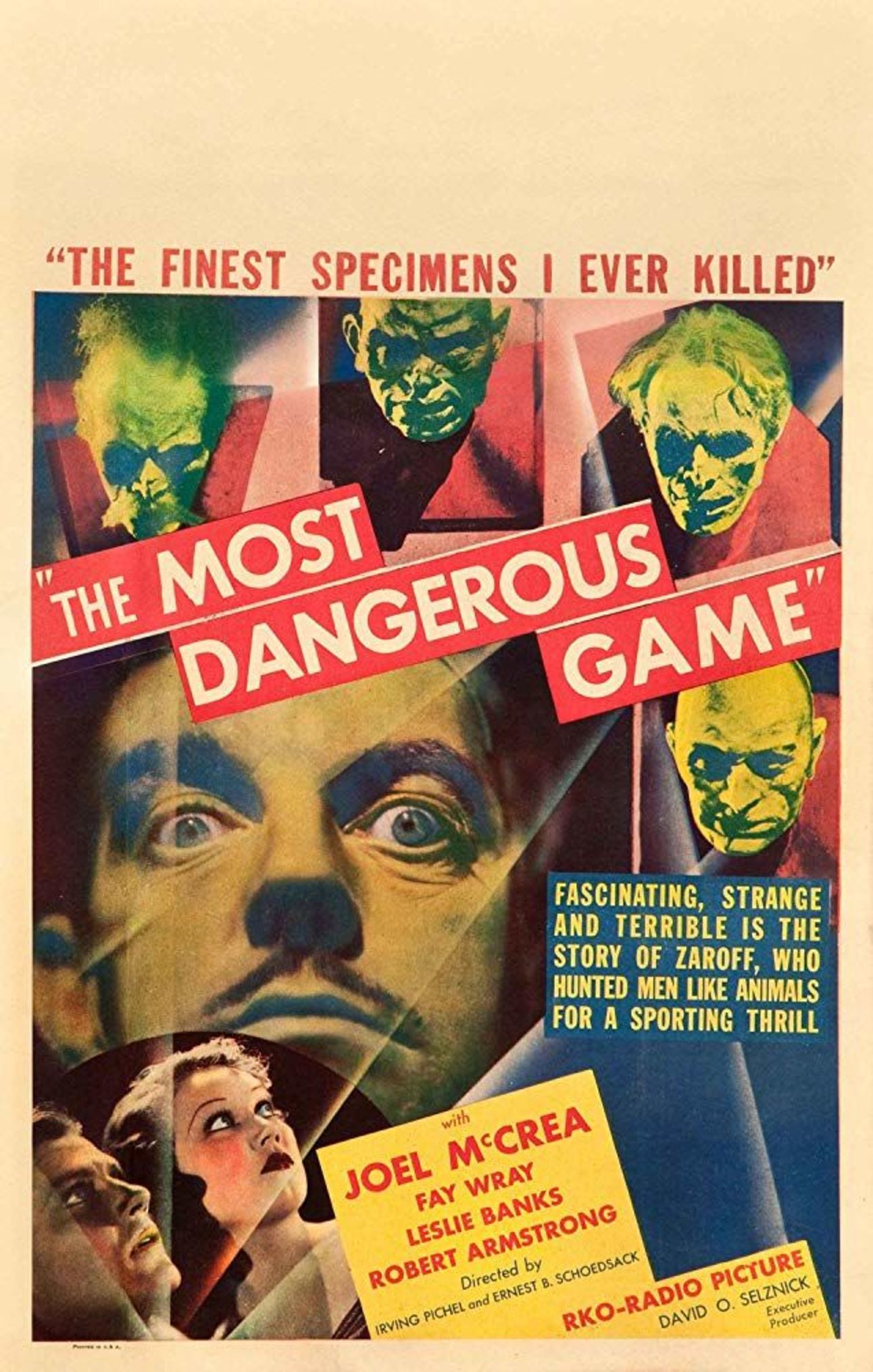 The Most Dangerous Game (1932) poster
