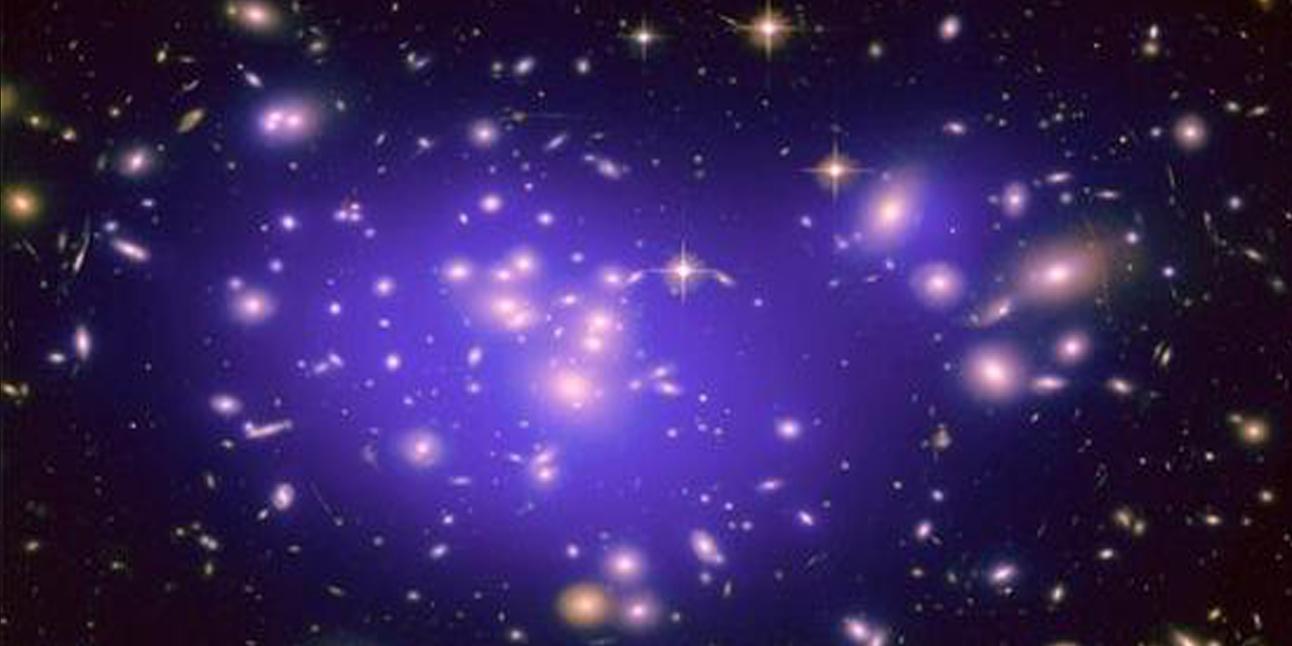 Simulation of dark energy in space