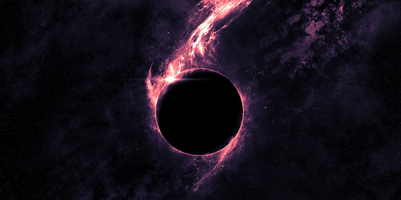Artist's rendering of a black hole