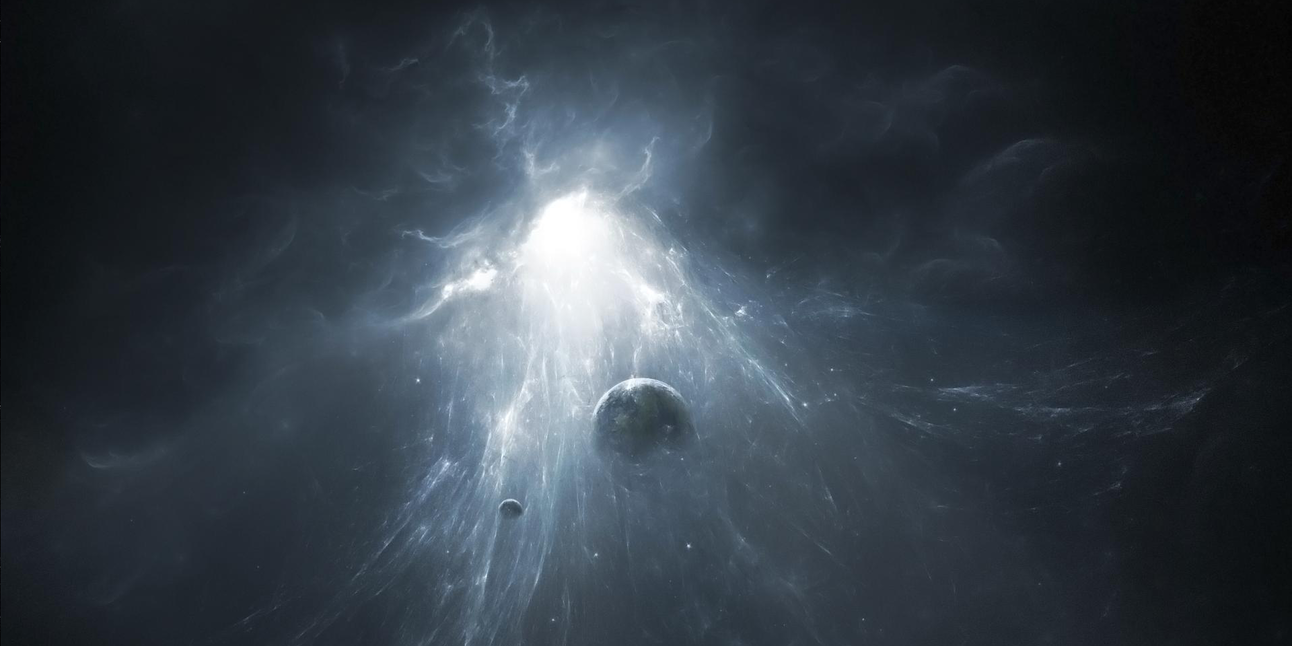 Artist's rendering of a white hole