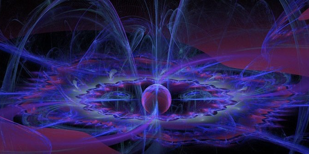 Artist's concept of antimatter