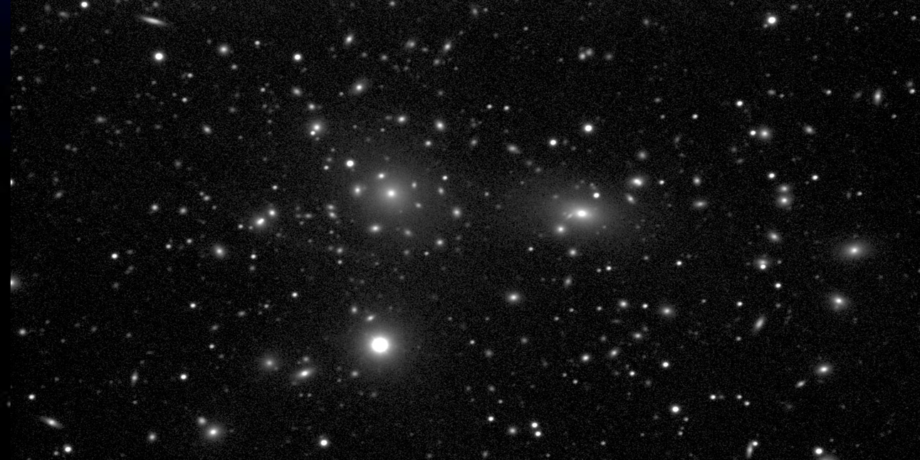 Actual image of the Coma Cluster.
