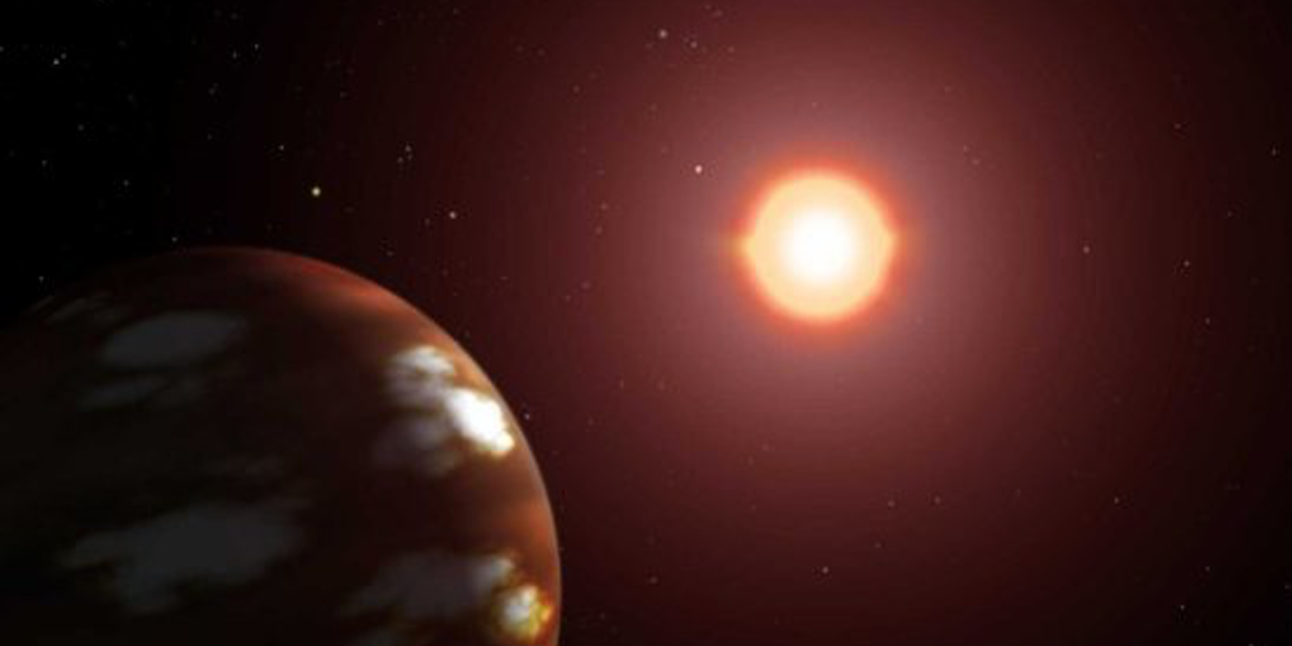 Fire and ice: an artist's rendering of Gliese 436 b.