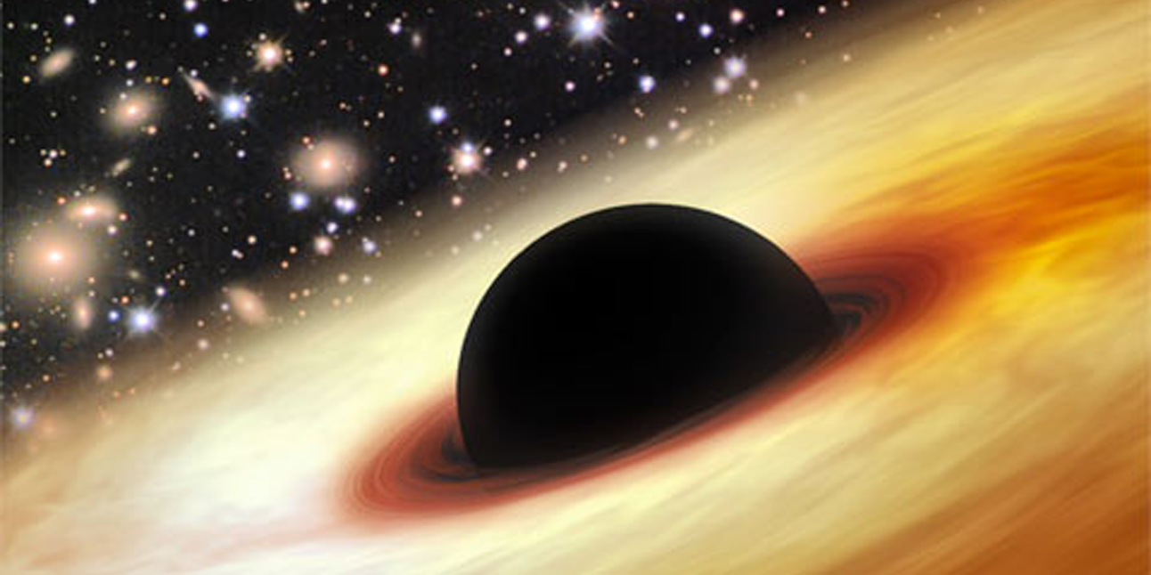 Artist's rendering of a quasar similar toSDSS J0100+2802.