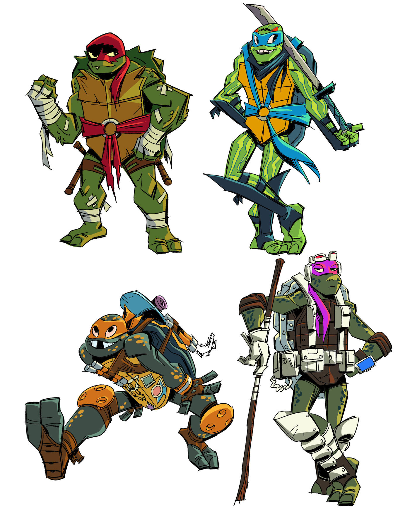 Exclusive The Creators Of Rise Of The Teenage Mutant Ninja Turtles Reveal Concept Art And The Show S New Vision