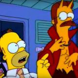 Homer Simpson Ned Flanders devil