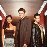 Charisma Carpenter, David Boreanaz, and Glenn Quinn in Angel.