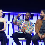 John Boyega Oscar Isaac Daisy Ridley Star Wars Celebration