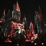 Universal Studios Dark Arts at Hogwarts Castle light show