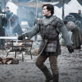 Podrick Payne hones his sword skills in Game of Thrones Season 8