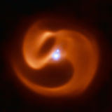 The astonishing dust spiral around 2XMM J160050.7-514245, aka Apep — a star that may become a powerful gamma-ray burst. Credit: ESO/Callingham et al.