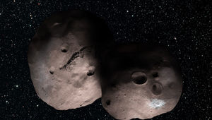 The icy object 2014 MU69 may be a binary, or even a contact binary, a double-lobed worldlet.