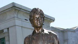 Anton Yelchin statue