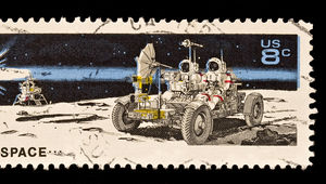 Moon NASA stamp