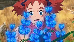 Mary and the Witch's Flower blue flowers