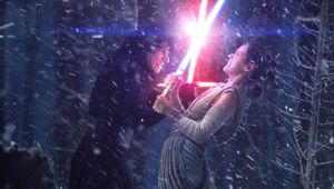 Star Wars, Reylo, Kylo Ren and Rey lightsaber battle