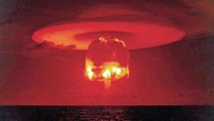 Mushroom Cloud Atomic Test
