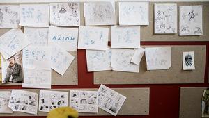 The Axiom Chronicles storyboard wall