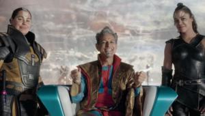 Jeff Goldblum as the Grandmaster in Thor: Ragnarok