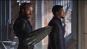 Avengers: Infinity War- Captain America with new shield and T'Challa