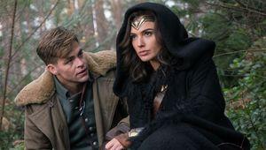 Diana Prince and Steve Trevor, Gal Gadot and Chris Pine, Wonder Woman